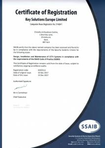 KSEL SSAIB Certificate - CCTV